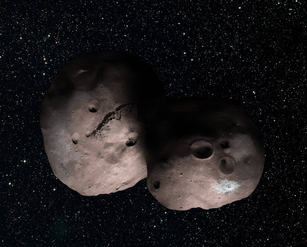 artists imporession of MU69 with a strange shape