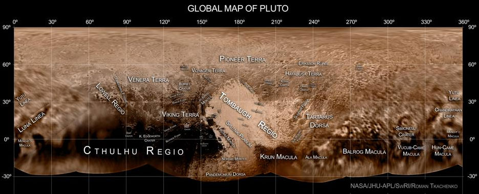 Map of Pluto
