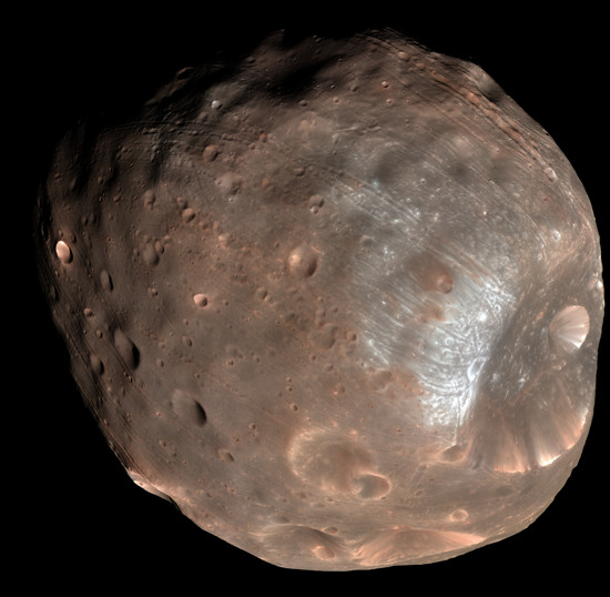 Phobos colour 2008 by NASA/JPL-Caltech/University of Arizona.
