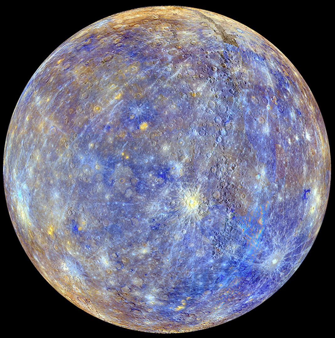 The planet Mercury from Messenger